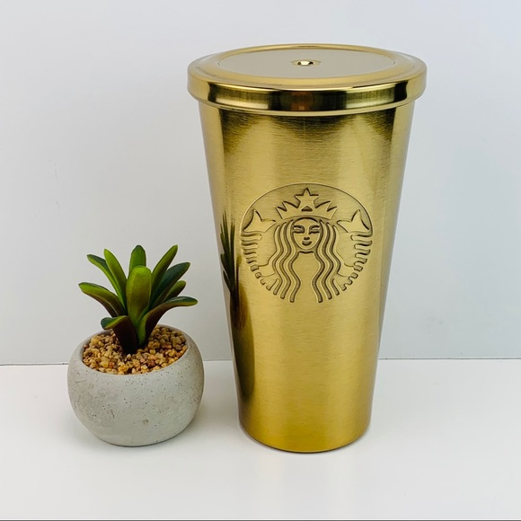 Starbucks Stainless Gold 16oz Cold Tumbler Cup